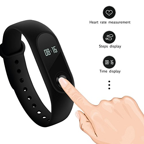 Xiaomi Mi Band 2 Smartwatch OLED Heart Rate Monitor Touchpad/ Bluetooth/ Android 4.4/ iOS 7.0 Versions and Above