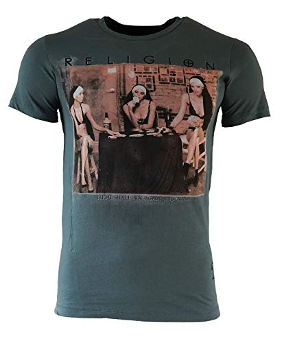 Religion Herren T-Shirt Strip Poker-Blau-XXL