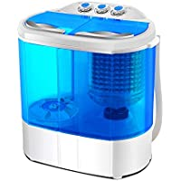 FOBUY Mini Twin Tub Washing Machine (3.6KG Washing + 2KG Drying) Portable Washer Spin Dryer Compact 120W