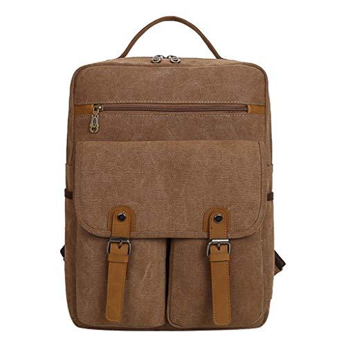 AIni Rucksack Vintage Canvas Outdoor Bag Reisetasche Mit Großem Fassungsvermögen Freizeitrucksack Schulrucksack Business Wandern Reisen Camping Tagesrucksack Neuheit 2019
