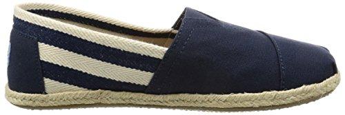Toms Canvas Classic Stripe Alpargata, Sneaker Uomo Blau (Navy Stripe University)
