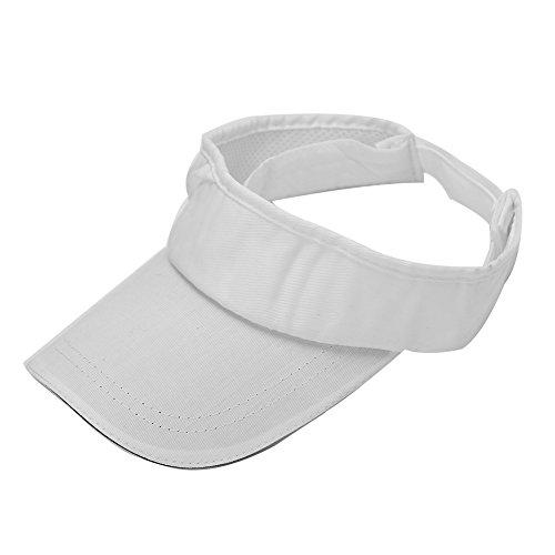 Unisex Verstellbarer Sonnenhut Visoren Visierhut mit Breitem Hutrand Schirmmütze für Golf Tennis Stand Baseball ( Farbe : Weiß )