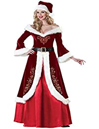 Eyekepper Robe Femme demoiselle mesdames sexy miss pere noel robe chic costume tenue