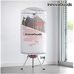 InnovaGoods-Sèche-Linge pour vêtements Portable, en Aluminium et Polycarbonate, Couleur: Blanc, 65x 65x 150cm
