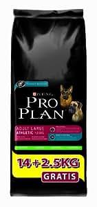 Pro Plan Dog Adult Large Athletic Hundefutter Lamm und Reis 14 kg plus 2,5 kg gratis, 1 Packung (1 x 16,5 kg)