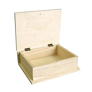 Artemio 17 x 21 x 7 cm Wooden Book, Beige