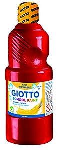 Tempera Giotto MAS Lavable LIQUIDA 500 ml Botella Rojo BERMELLON
