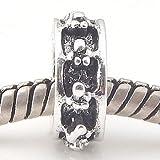 Andante-Stones Silber Spacer Bead Pfötchen Element Kugel für European Beads + Organzasäckchen