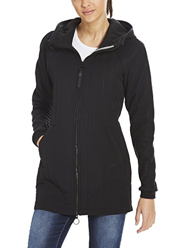 Bench Damen Mantel CORE Slim Material Mix Coat, Schwarz (Black Beauty Bk11179), Medium