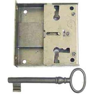 Antikhof Kastenschloss Eisen/Plank Dornmaß 4,5cm H=63mm B=67mm