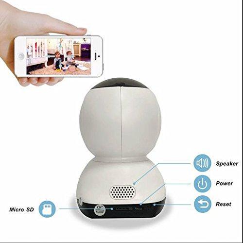 720P Wlan Dome ip kamera Megapixel ip kamera,Remote PTZ Steuerung,Kindermädchen kamera,2 Wege Audio zum Gegensprechen,24 Stunden Überwachung bei Tag und Nacht,Video Aufnahme und Wiedergabe (Remote-dome-kamera)