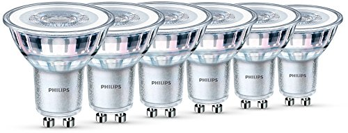 Philips - Pack de 6 Bombillas Led Foco Gu10 Cristal, 4.6 W...
