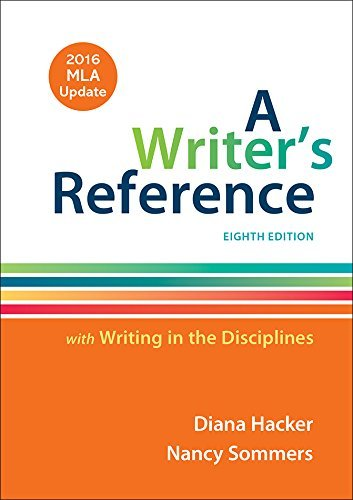 A Writer's Reference with Writing in the Disciplines with 2016 MLA Update by Diana Hacker (2016-07-11) par Diana Hacker;Nancy Sommers
