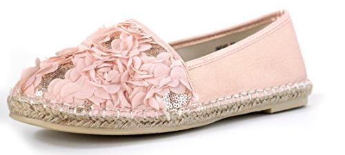Espadrilles Rose Blueten Blume Pailletten Bluemchen Groeße 38 Pretty Metallic (Pailletten-blumen-sandalen)