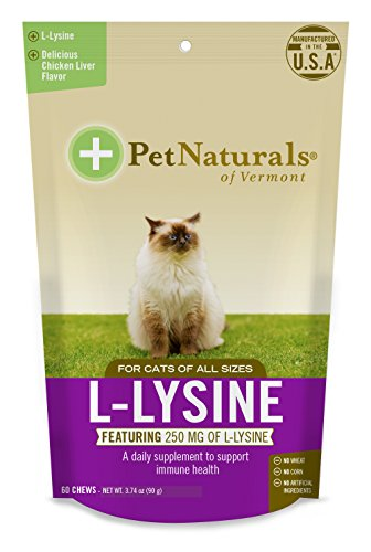 Lysine is an essential amino acid for felines that must be ingested through food or supplements. L-Lysine for Cats supports respiratory health and immune system function while also building collagen for a healthy skin and coat. It also supports eye h...