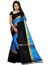 Sarees For Women Sarees New Collection Sarees For Women Latest Design Women's Multi Cotton Silk Saree With Blouse...