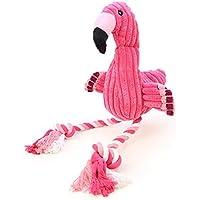 Juguete de Peluche para Cachorros con Sonido, Suave Peluche de Flamenco Rosa para Perros pequeños y Grandes