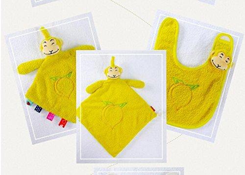 Rolypolybaby Schön und weich Baby Tröster Spielzeug Baumwolle Handtuch Soft Handtuch Plüsch Cute Monkey Spielzeug 3 Stück / Set_Yellow -