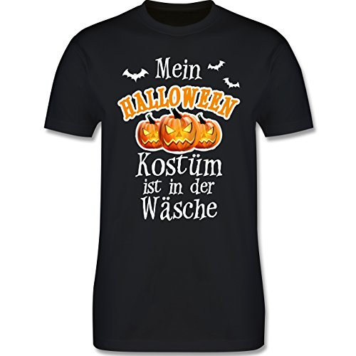 Halloween - Mein Halloween Kostüm ist in der Wäsche - 4XL - Schwarz - L190 - Herren T-Shirt (4xl Kostüme Halloween)