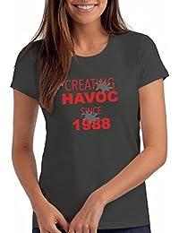 "Da Londra Womens Creating Havoc Since 1988"" 30th Birthday T Shirt Gift"