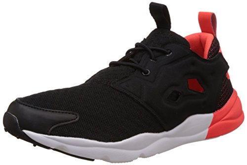 Reebok Classics Women's Furylite Pop Black, Red and White Running Shoes – 5 UK 414v5HpyKFL
