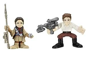 Star Wars Galactic Heroes Han Solo and Princess Leia Boushh