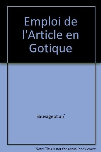 Emploi de l'article en gotique