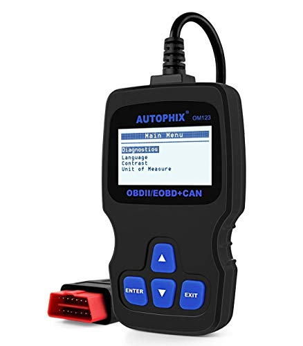 AUTOPHIX OBD2 Diagnosegerät, Om123 Auto Code Scanner zum Lesen und Löschen von Fehlercodes Funktioniert bei Allen PKWs mit OBD II Protokolle und mit standardem 16-pin OBD-II Schnittstelle BJ. ab 2000 - Die Chevrolet Durch Zahlen