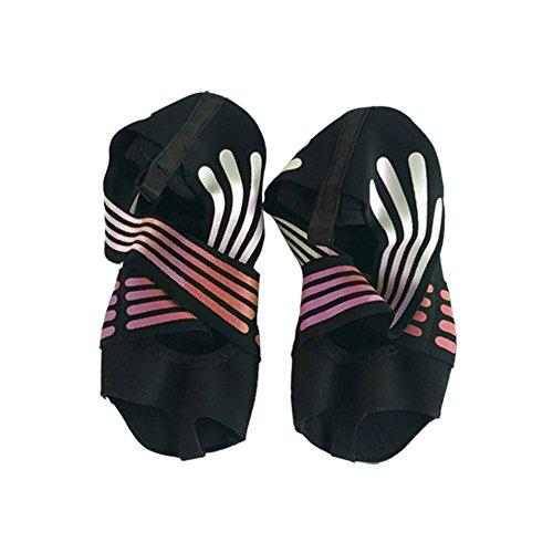 Yoga Socken Yoga Schuhe Anti-Rutsch Offenen Zehen, Größe 35/36/37/38, Atmungsaktiv, Weich, Hautfreundlich, Für Ballet, Yoga, Pilates, Tanz Sport - Baby-socke-traktion