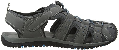 Gola Herren Shingle 3 Sandalen Trekking-& Wanderschuhe, Grau (Grey/Black/Blue), 41 EU (7 UK)