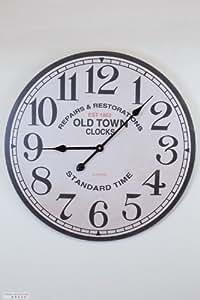 HORLOGE MURALE OLD TOWN NOSTALGIE CUISINE QUARTZ HORLOGE GRANDE 60 cm- Collection de Tina - Le design légèrement différent