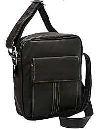 David King 26 Co David King & Co. Deluxe Medium Size Messenger With Flap, Black, One Size