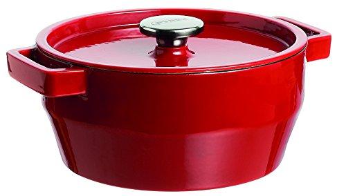Pyrex Slow Cook - Cacerola De Hierro Fundido Redonda, 20 Cm, 2,2 L, Todos Los Fuegos