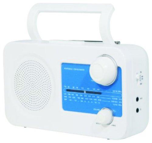 Tragbares Radio (leuchtendes blau, ideal für unterwegs, auch mit Batterie zu betreiben)