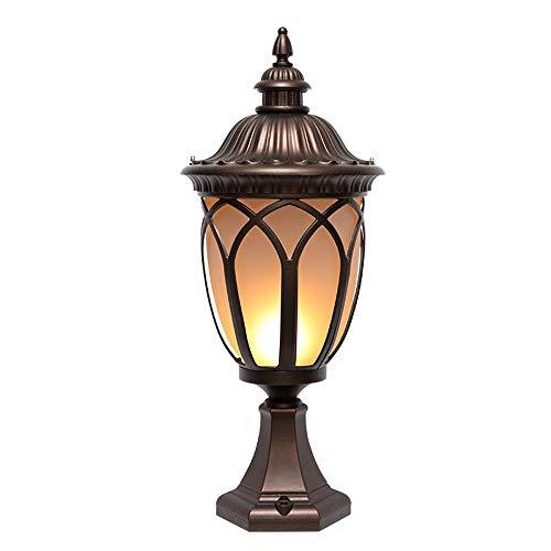 Traditionelle Outdoor-deck (ATR Traditionelle Outdoor-Gartenbeleuchtung Post Deck Cap Zaun Lichter Wandleuchte Pillar Post Lampe für Veranda Patio Garden D Eacute;)