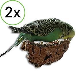 Vogelgaleria 2 pezzi di sughero da beccare per uccelliLa gustosa alternativa alla pietra minerale o all'osso di seppia.