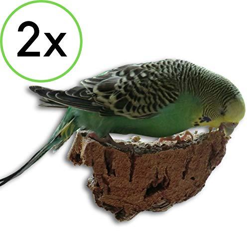 2 x Kork-Pickstein. Die leckere Alternative zum Mineralstein oder Sepia-Schale (Kork-futter)