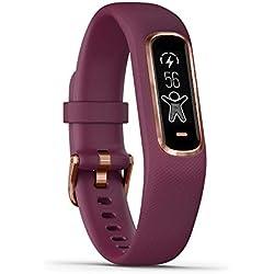 Garmin vívosmart 4 Fitness-Tracker - stilvolles Design, Herzfrequenzmessung am Handgelenk, Schlafanalyse Garmin
