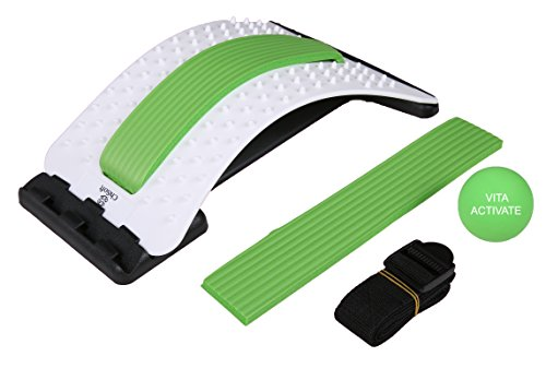 Back Stretcher w/Lumbar Support- ChiSoft® #1 Doctor Recommended- Improved Design, Multi-level Orthopedic Back Stretching Device, Unique Central Soft Form Support, Back Pain Relief, Magical Back Treatment, Premium Quality. Lumbar Massaging Support (Back Lumbar Support Support)