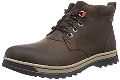 Clarks  RipwayHill GTX, Bottes Classics courtes, doublure froide hommes - Marron - Braun (Dark Brown Leather), Taille 40 EU