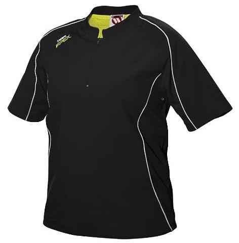 Worth Fpxbj Women's Batting Short Sleeve 1/4 Zip Jacket (Black, X-Large)