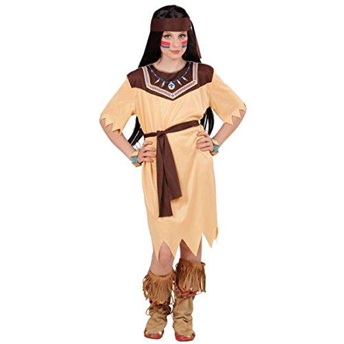 - 128, 5 - 7 Jahre - Indianer Verkleidung Mädchen Wildwest Faschingskostüm Pocahontas Kleid Karnevalskostüm Kinder Kleine Indianerin Kostüm (Kleines Mädchen Pocahontas Kostüme)