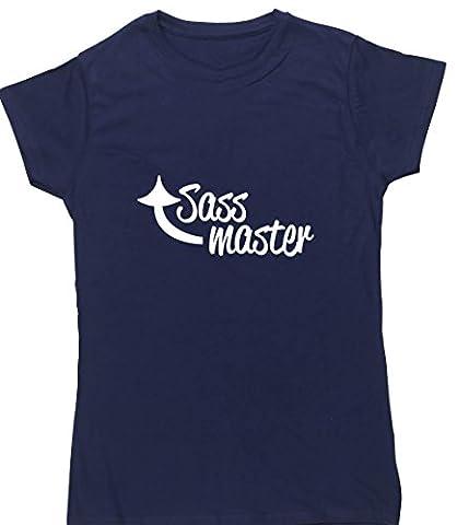 HippoWarehouse SASS MASTER-t-shirt à manches courtes pour femme - Bleu - M