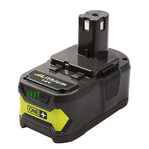 Dtk® Accessori per utensili elettrici Pacchi batterie Batteria per Ryobi P108 18V 4.0AH with Recharge Indicator 18-Volt ONE+ Tool