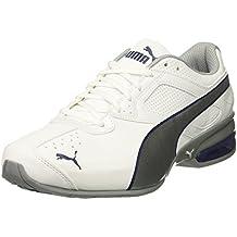Zapatillas de deporte Tazon 6 FM para hombre, Puma White-Puma Silver / Blue Depths, 7 M US