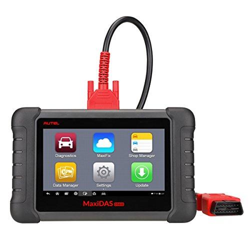 Autel OBD2 Wifi Diagnosegerät Fehlercode Scanner MaxisDAS DS808 Automotive Diagnosewerkzeug, Update durch Wifi, unterstüzt Alle 5 OBDII-Protokolle und 10 Testmodi, Getestet mit über 80 Automarken