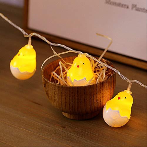 Ankamal Elec 1PC Pasqua LED String Lights, String Lights a Batteria Chick Shaped String Lights, per Giardino, casa, Patio, Matrimonio, Decorazioni pasquali (3m 20LED) - 4