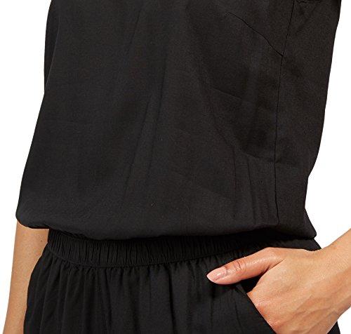 TOM TAILOR Denim Damen Solid Jumpsuit, Schwarz (Black 2999), 38 (Herstellergröße: M) - 4