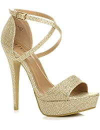 selezione migliore d809c 684f8 Amazon.it: scarpe - Oro / Scarpe col tacco / Scarpe da donna ...