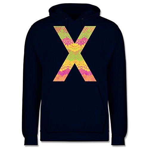 Statement Shirts - Neon Lace X - Männer Premium Kapuzenpullover / Hoodie Dunkelblau